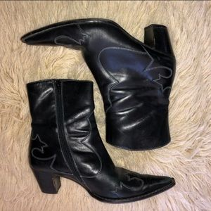 PAUL GREEN WESTERN ANKLE BOOTS UK sz 5 US 7.5